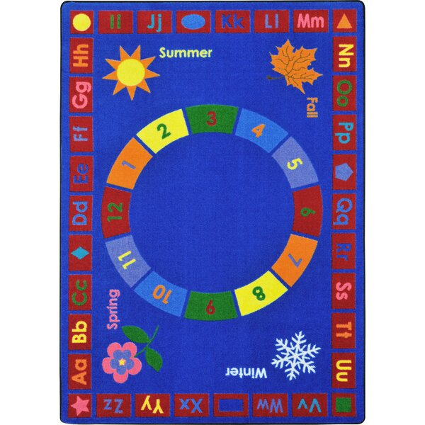 Learning Time Blue Area Rug by Joy Carpets