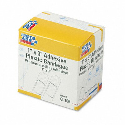 Plastic Adhesive Bandages, 100/Box by First Aid Only™
