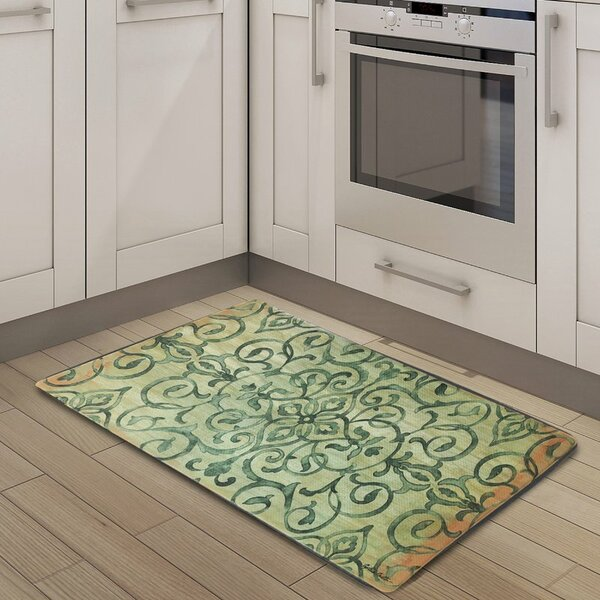 Leon Anti Fatigue Embossed Kitchen Mat by Fleur De Lis Living