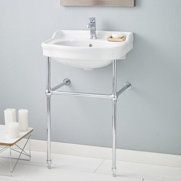 Metal 23 Console Bathroom Sink with Overflow by Cheviot Products