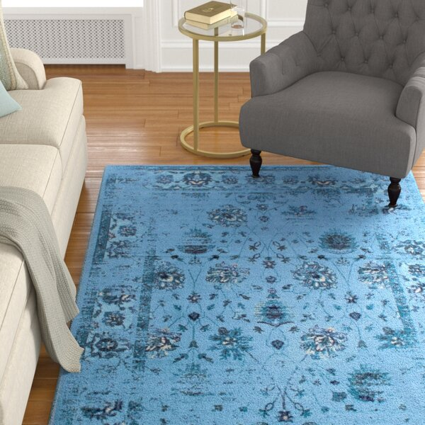Myrtle Turquoise Area Rug by Charlton Home