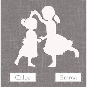 'Sisters Dance Simple Personalized' by Patti Rishforth Graphic Art on Canvas by GreenBox Art