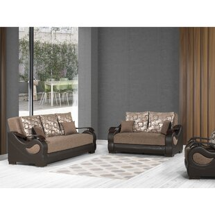 Geovany 3 Pieces Sleeper Living Room Set by Red Barrel Studio®
