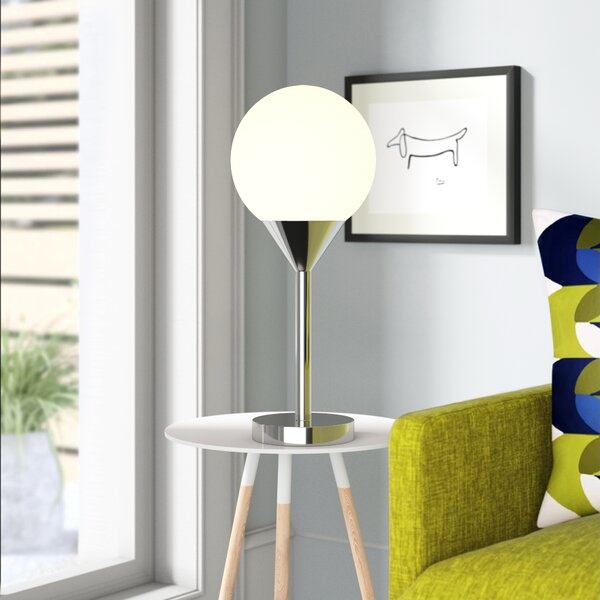 Jamie 1-Light 20.75 Table Lamp by Wade Logan