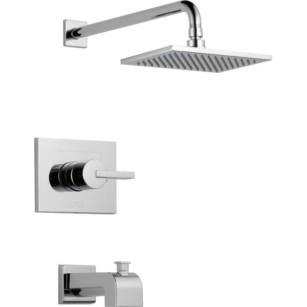 Vero Tub and Shower Faucet with Lever Handles and Monitor by Delta