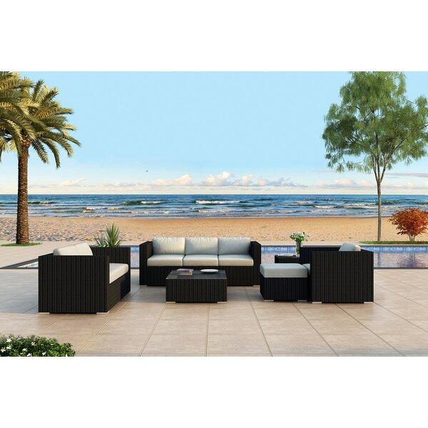 Azariah 5 Piece Sofa Seating Group with Sunbrella Cushions by Orren Ellis