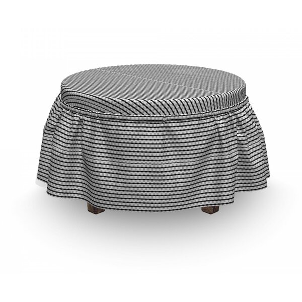 Monochromatic Layout Ottoman Slipcover (Set Of 2) By East Urban Home