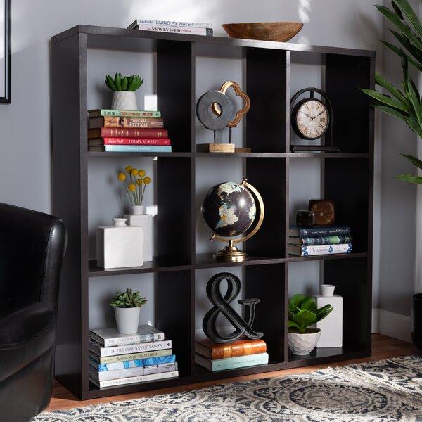 Parimal Modern And Contemporary Dark Brown Finished 9-Cube Multipurpose Storage Shelf By Ebern Designs