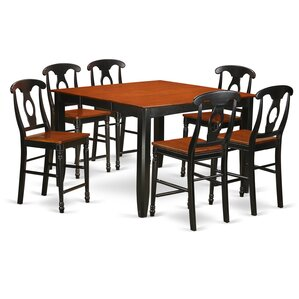 Tamarack 7 Piece Counter Height Pub Table Set by Red Barrel Studio