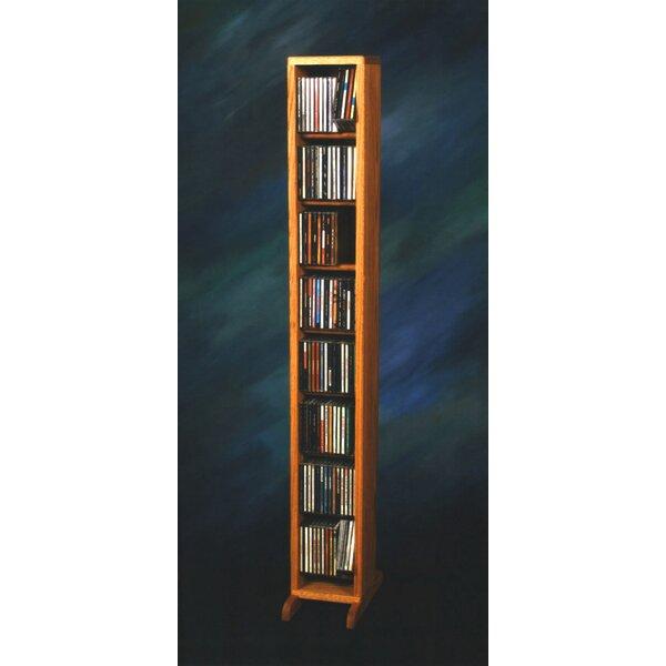 112 CD Dowel Multimedia Storage Rack By Rebrilliant