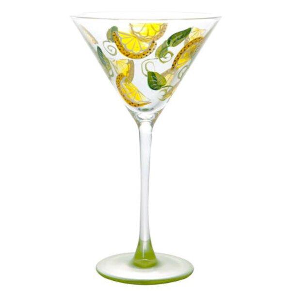 Lemon Twist 8 oz. Martini Glass by Pat Barker Designs