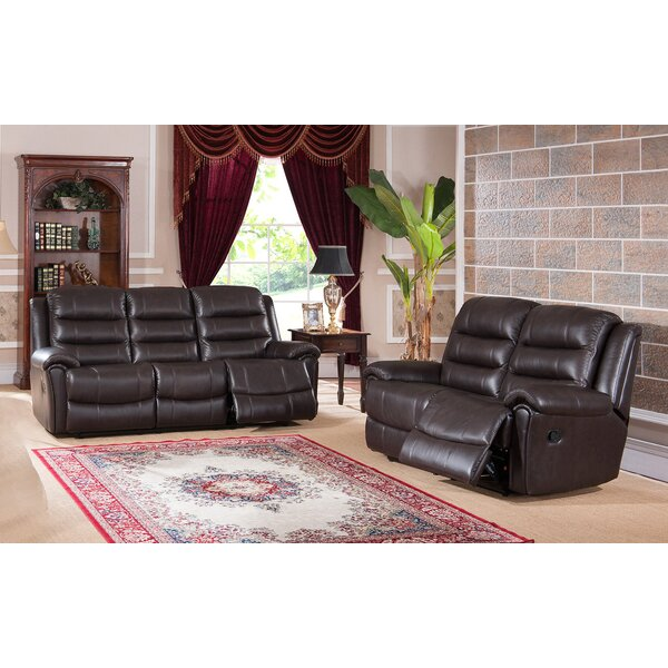 Lorretta 2 Piece Leather Reclining Living Room Set By Red Barrel Studio