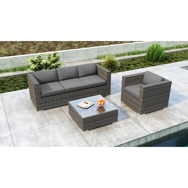 Gilleland 3 Piece Sofa Set with Sunbrella Cushion by Orren Ellis