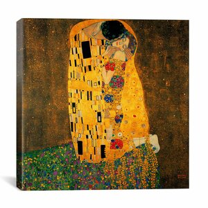 'The Kiss' by Gustav Klimt Painting Print on Wrapped Canvas by iCanvas