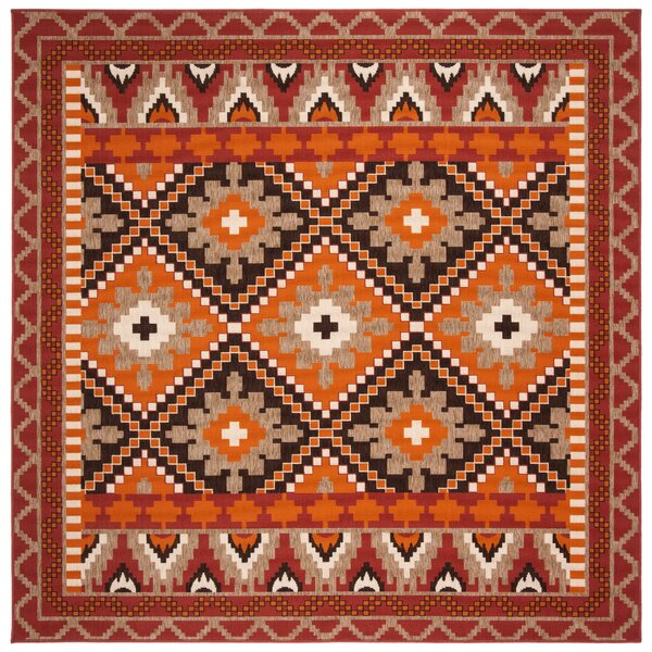 Easterwood Rust Indoor/Outdoor Area Rug by Millwood Pines Millwood Pines