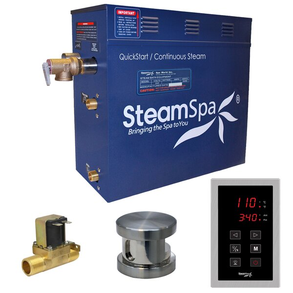 Oasis 9 kW QuickStart Steam Bath Generator Package with Built-in Auto Drain by Steam Spa