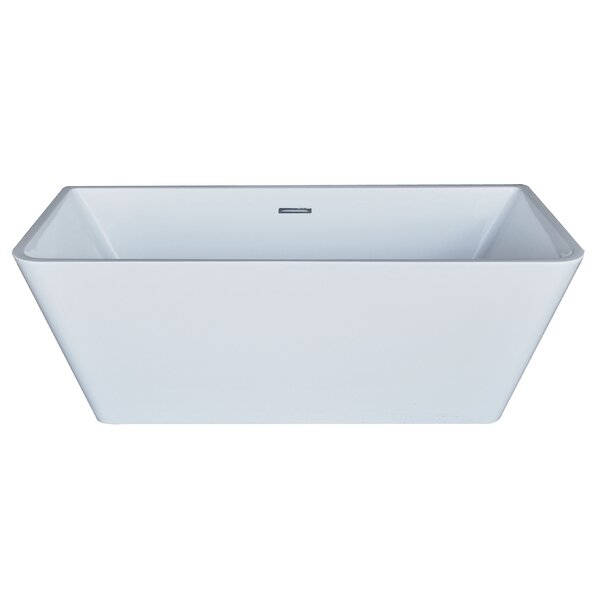 Azurel 66.88 x 31.38 Rectangle Acrylic Freestanding Bathtub by Spa Escapes