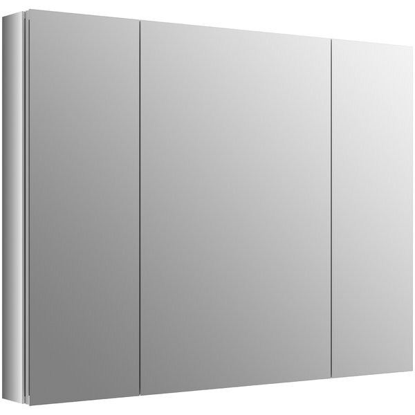 Verdera 40 x 30 Aluminum Medicine Cabinet with Adjustable Magnifying Mirror and Slow-Close Door by Kohler