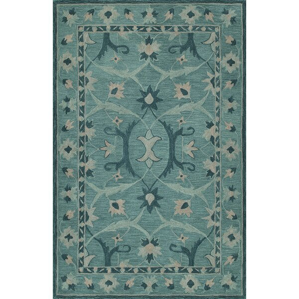 Dietz Hand-Tufted Teal Area Rug by Darby Home Co