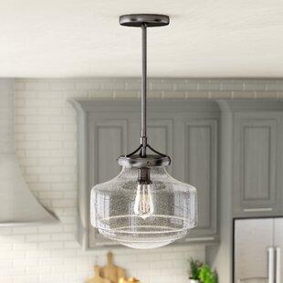 Look for Light 1-Light Schoolhouse Pendant By Laurel Foundry Modern Farmhouse