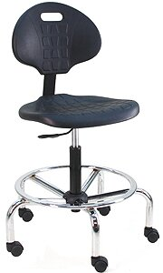 Eco-Friendly Cleanroom Lab Waterfall Drafting Chair with Lumbar Support by Symple Stuff