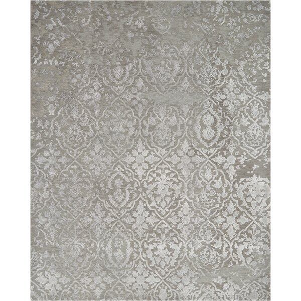 Trevethan Glam Hand-Tufted Charcoal/Silver Area Rug by Rosdorf Park