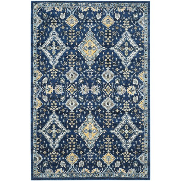 Ameesha Blue Area Rug by Bungalow Rose