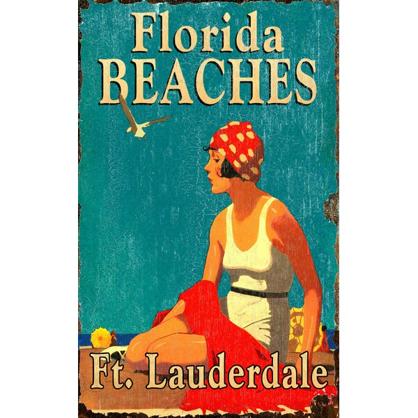 Florida Beaches Vintage Advertisement Plaque by Highland Dunes