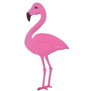 foil flamingo wall dcor