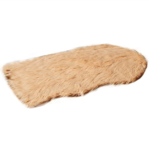 Faux Fur Champagne Area Rug by De Moocci