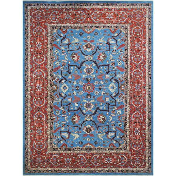One-of-a-Kind Woodmoor Beltoon Hand-Knotted Wool Blue Area Rug by Loon Peak