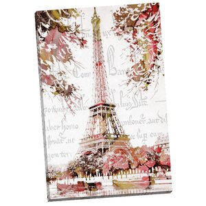 Paris Springtime by Finchley Paper Arts Painting Print on Wrapped Canvas by Portfolio Canvas Decor