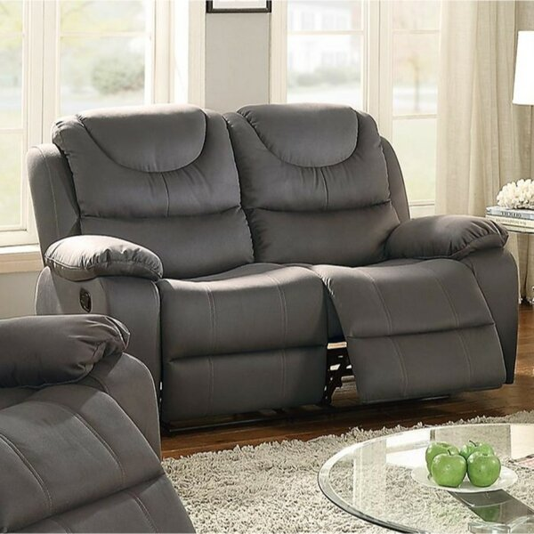 Paramus Breathable Reclining Loveseat by Winston Porter