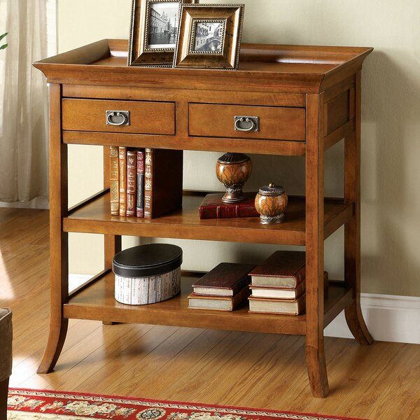 Hinkle 36 inch Solid Wood Console Table by Rosalind Wheeler