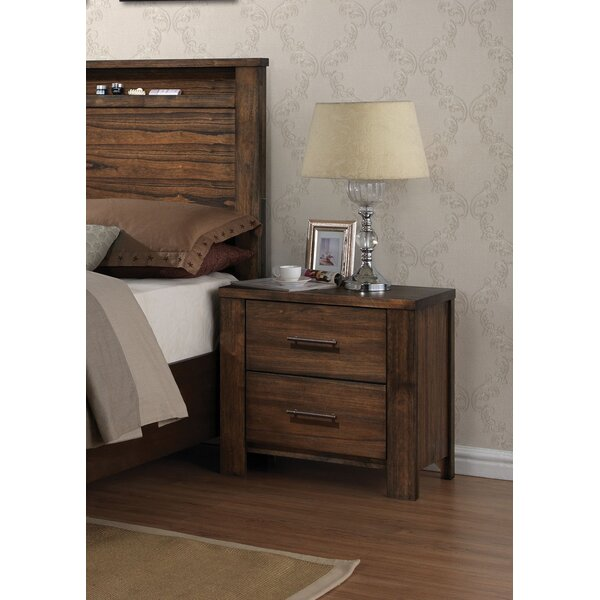 Lars 2 Drawer Nightstand by Millwood Pines