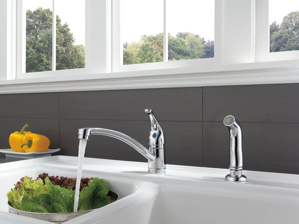 Choice Single Handle Kitchen Faucet with Matching Side Spray by Peerless Faucets