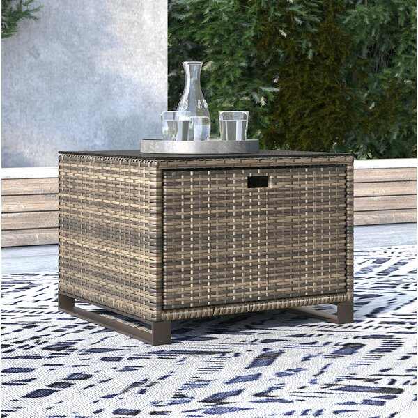 Oceanside Glass Side Table by Tommy Hilfiger