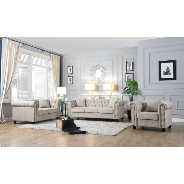 Doorfield 3 Piece Living Room Set by Alcott Hill