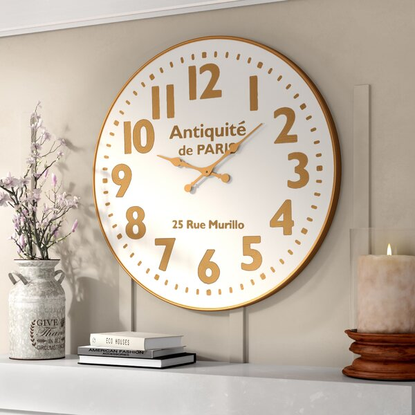 36 Oversized Wall Clock by Lark Manor