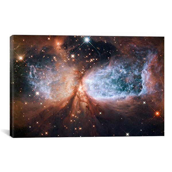 Astronomy and Space Celestial Snow Angel S106 Nebula Graphic Art on Wrapped Canvas by iCanvas
