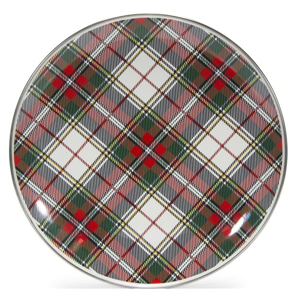 Fortune Plaid 11 Dinner Plate by The Holiday Aisle