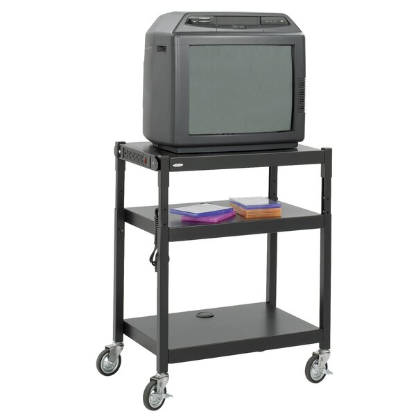 Adjustable Height AV Cart by Safco Products Company