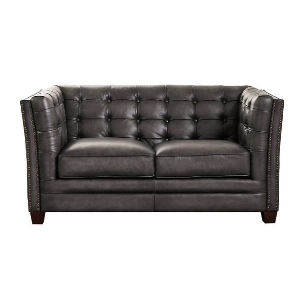 Best Oliverson Leather Loveseat