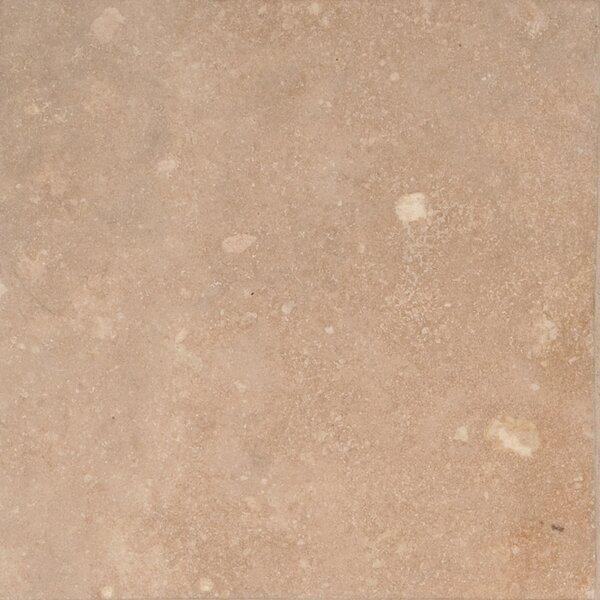 Durango 6'' x 6'' Travertine Field Tile in Honed Beige by MSI