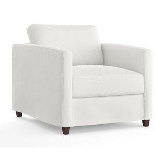Wellow Slipcovered Armchair by Latitude Run