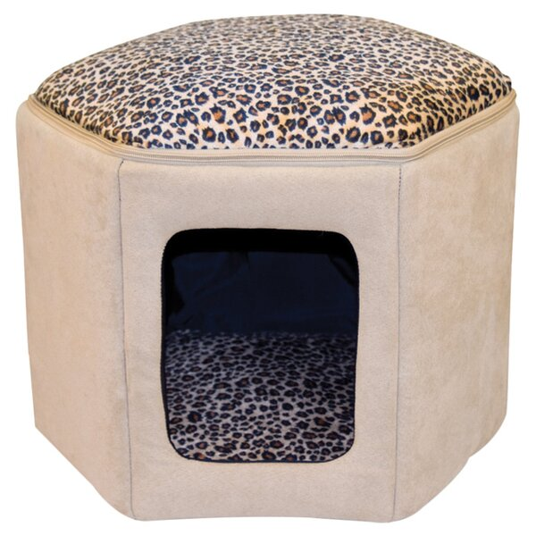 Kitty Sleep House in Tan & Leopard by K&H Manufacturing