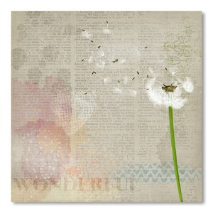 'Vintage Sheet Dandelion' by Wonderful Dream Graphic Art by East Urban Home