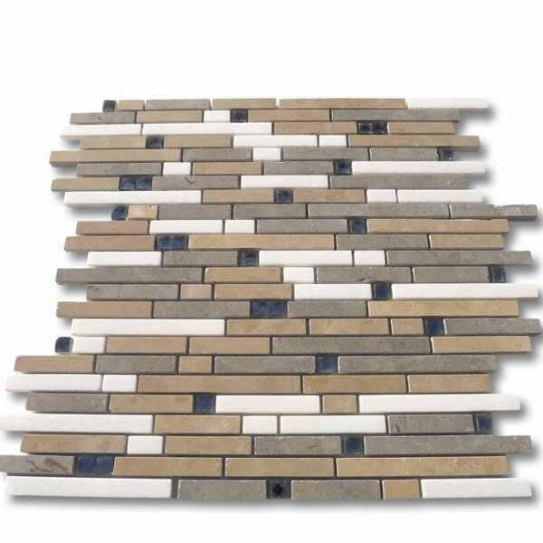 Paradox Random Sized Mixed Material Mosaic Tile in Mystery by Splashback Tile