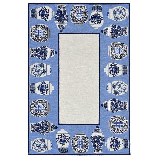 Ardelle Ginger Jars Handmade Tufted Blue Indoor/Outdoor Area Rug by Bloomsbury Market