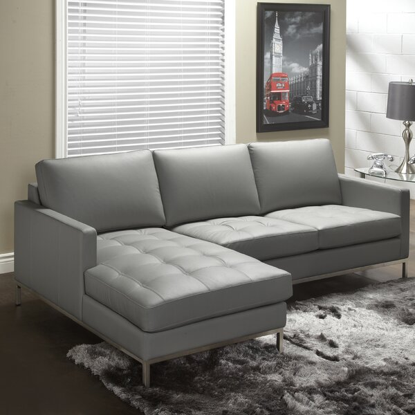 Chic Style 244 Series Leather Sectional by Lind Furniture by Lind Furniture